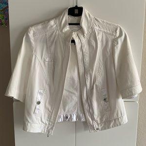 WHBM white cropped jacket